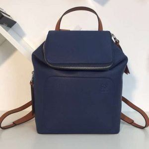 Replica Loewe Goya Small Backpack Soft Natural Calf Blue