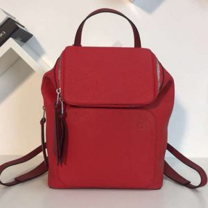 Replica Loewe Goya Small Backpack Soft Natural Calf Red