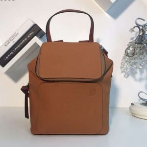 Replica Loewe Goya Small Backpack Soft Natural Calf Brown
