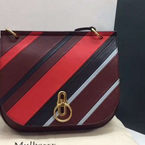 Replica Mulberry Amberley Satchel Medium Bags Original Leather Wine/Red/Black/White