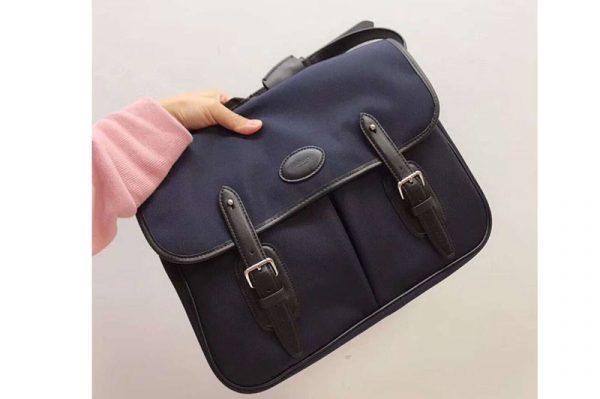 Replica Mens Mulberry Briefcase Messenger Bags Blue Nylon