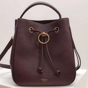 Replica Mulberry Hampstead Small/Medium Classic Grain Leather Bags Bordeaux