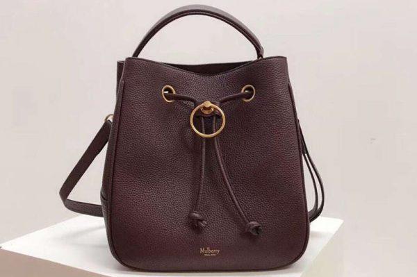 Replica Mulberry Hampstead Small/Medium Classic Grain Leather Bags Bordeaux