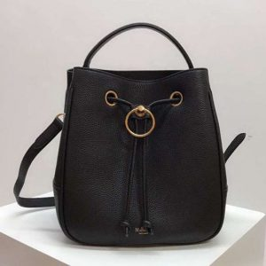 Replica Mulberry Hampstead Small/Medium Classic Grain Leather Bags Black