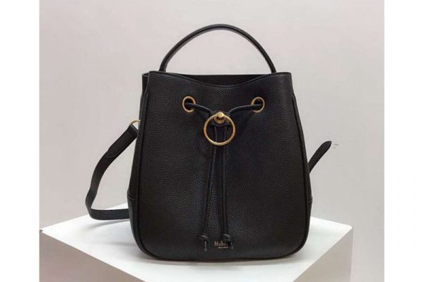 Replica Mulberry Hampstead Small/Medium Classic Grain Leather Bags Black