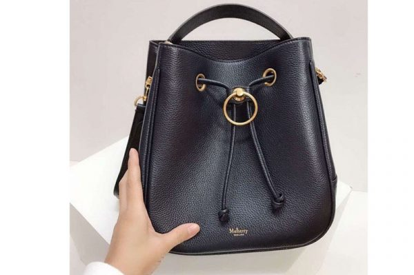 Replica Mulberry Hampstead Small/Medium Classic Grain Leather Bags Navy Blue
