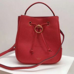 Replica Mulberry Hampstead Small/Medium Classic Grain Leather Bags Red