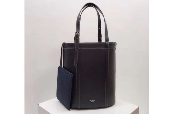 Replica Mulberry Small Wilton Tote Bags Silky Calf Leather Midnight