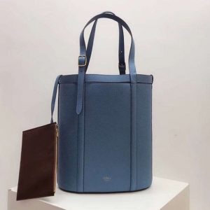 Replica Mulberry Small Wilton Tote Bags Silky Calf Leather Blue
