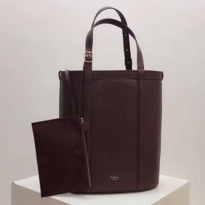 Replica Mulberry Small Wilton Tote Bags Silky Calf Leather Bordeaux