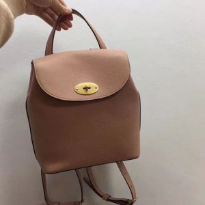Replica Mulberry Mini Bayswater Backpack Small Classic Grain Leather Pink