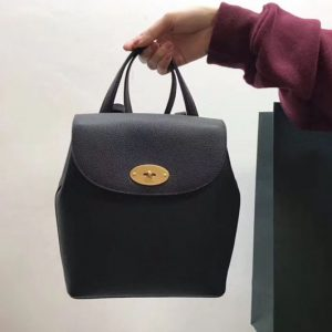 Replica Mulberry Mini Bayswater Backpack Small Classic Grain Leather Black