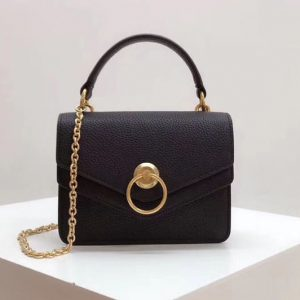 Replica Mulberry Small Harlow Satchel Bags Small Classic Grain Leather Black