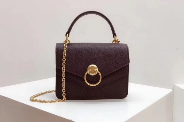 Replica Mulberry Small Harlow Satchel Bags Small Classic Grain Leather Wine