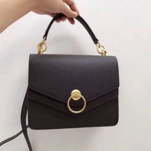 Replica Mulberry Harlow Satchel Bags Small Classic Grain Leather Black