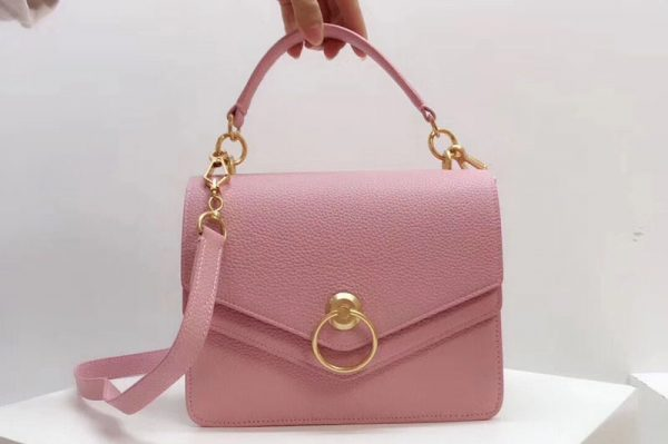 Replica Mulberry Harlow Satchel Bags Small Classic Grain Leather Pink