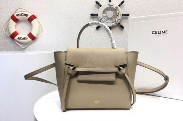 Replica Celine Grained Calfskin Belt Bag 8068 Apricot