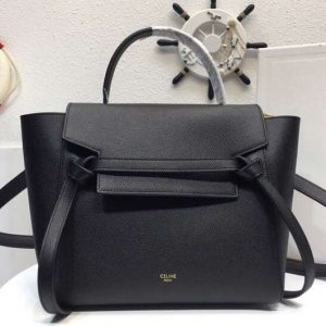 Replica Celine Grained Calfskin Belt Bag 8069 Black