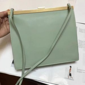 Replica Celine Mini Clasp In Natural Calfskin Crossbody Bags Green