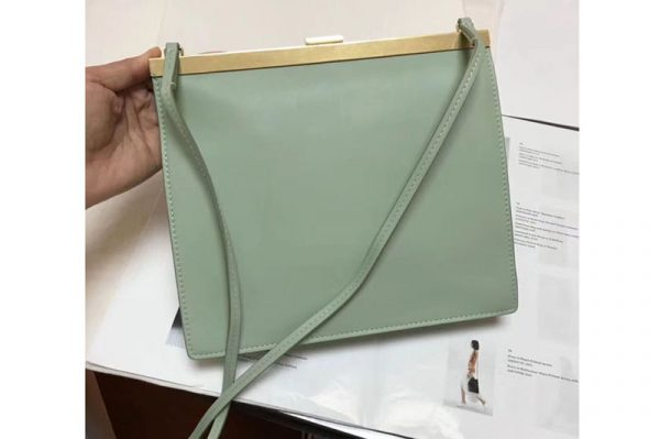 Replica Celine Mini Clasp In Natural Calfskin Crossbody Bags Green