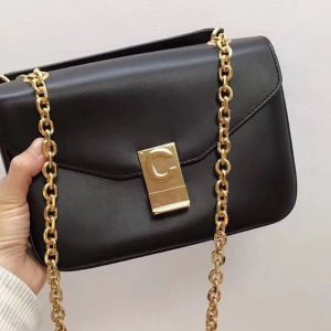 Replica Celine Shiny Calfskin Medium C Bags Black
