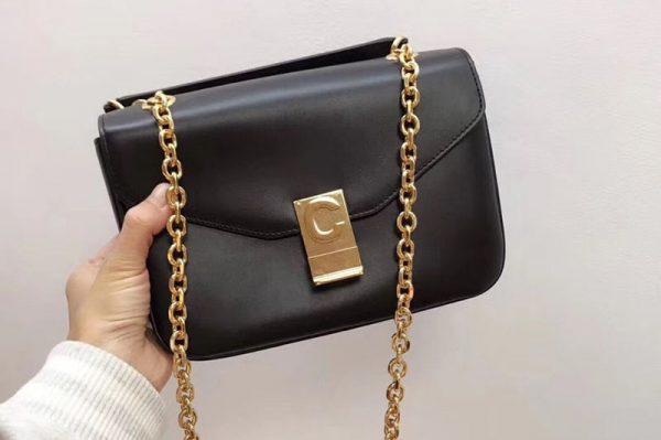 Replica Celine Shiny Calfskin Medium C Bags Black