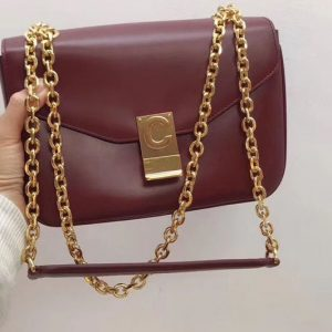 Replica Celine Shiny Calfskin Medium C Bags Bordeaux