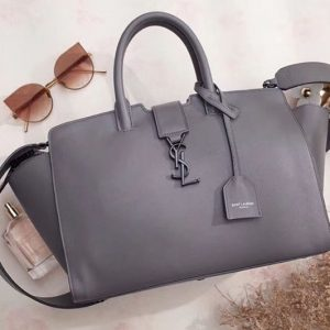Replica YSL Saint Laurent Downtown Small Cabas Bags Original Leather 436832 Grey