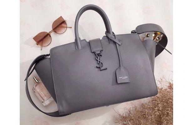 Replica YSL Saint Laurent Downtown Small Cabas Bags Original Leather 436832 Grey