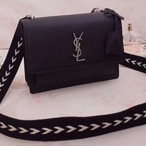 Replica YSL Saint Laurent Medium Sunset Monogram Bag 449453 Black