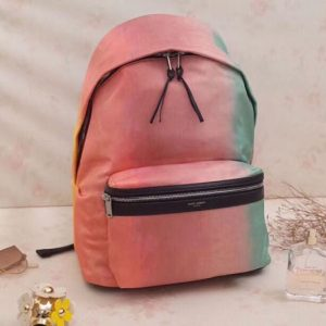 Replica YSL Saint Laurent City Backpack In Nylon Canvas 520512 Pink