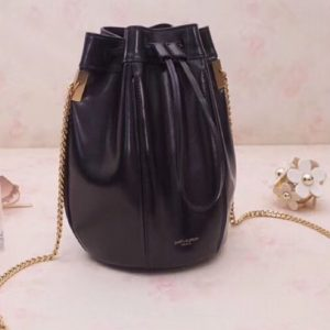 Replica YSL Saint Laurent Talitha Small Bucket Bag in Smooth Leather 554250 Black