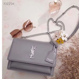 Replica YSL Saint Laurent Medium Sunset Monogram Bag 442906 Grey