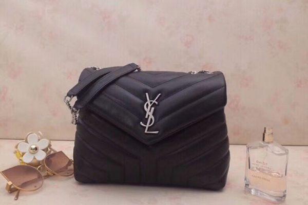 Replica YSL Saint Laurent Loulou Small Bag in Matelasse Y Leather 494699 Black
