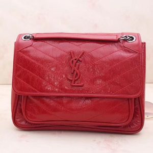 Replica YSL Saint Laurent Niki Medium Bag Vintage Leather 498894 Red