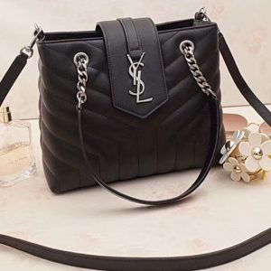 Replica YSL Saint Laurent Small Loulou Shopping Bag 502717 Black