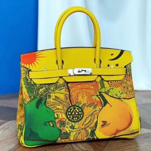 Replica Hermes birkin 25 Cat Limited Edtion Bags Original Togo Leather Full Handstitch