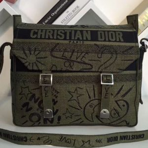 Replica Dior M1291 Diorcamp messenger bag in canvas embroidered