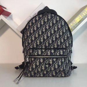 Replica Dior Oblique Backpack in Blue Dior Oblique canvas