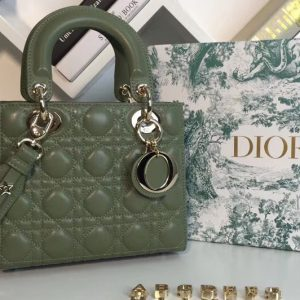 Replica Dior M0538 My ABCDior Lambskin Bag Green Lambskin Leather