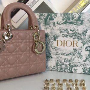 Replica Dior M0538 My ABCDior Lambskin Bags Pink Lambskin Leather