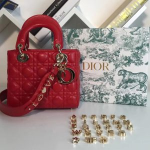 Replica Dior M0538 My ABCDior Lambskin Bags Red Lambskin Leather
