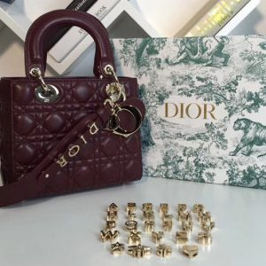 Replica Dior M0538 My ABCDior Lambskin Bags Purple Lambskin Leather