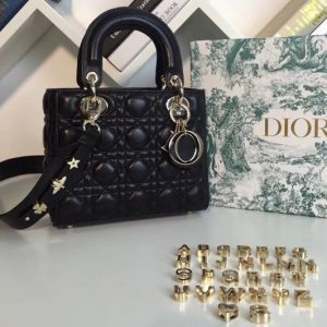 Replica Dior M0538 My ABCDior Lambskin Bags Black Lambskin Leather