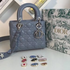 Replica Dior M0538 My ABCDior Lambskin Bags Blue Lambskin Leather