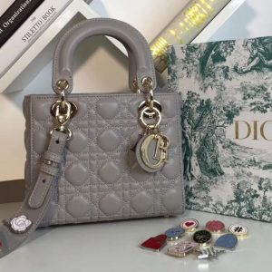 Replica Dior M0538 My ABCDior Lambskin Bags Gray Lambskin Leather