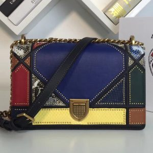 Replica Dior M0422 Diorama Archi cannage bag Multicolor studded matt calfskin with Archicannage motif