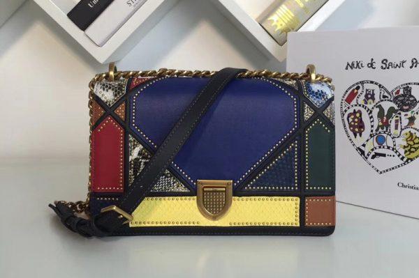 Replica Dior M0422 Diorama Archi cannage bag Multicolor studded matt calfskin with Archicannage motif