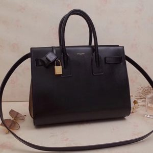 Replica Saint Laurent 324823 Classic Sac De Jour Small Bags Black Smooth Leather