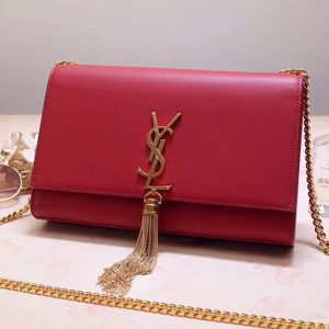 Replica Saint Laurent YSL 354119 Medium Kate Tassel Chain Bag Red Smooth Leather